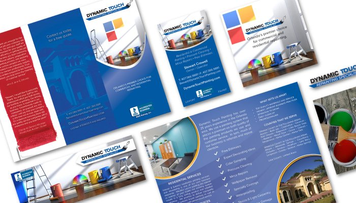 Marketing collateral designed by gridplay designs