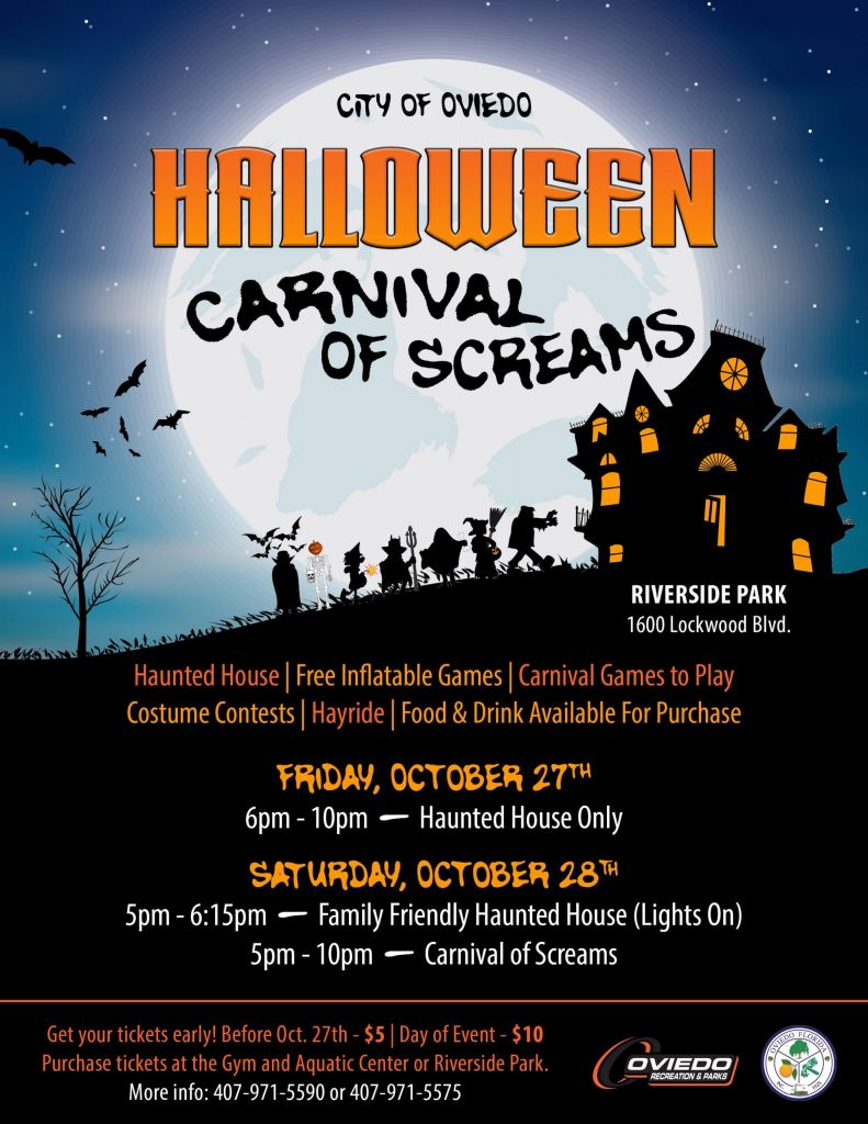 City of Oviedo Carnival of Screams Poster