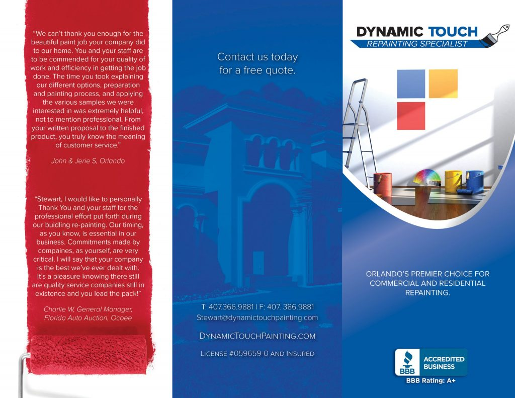 Dynamic Touch Brochure Front and Back Side Flap