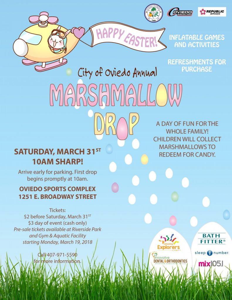 City of Oviedo Marshmallow Drop Flyer