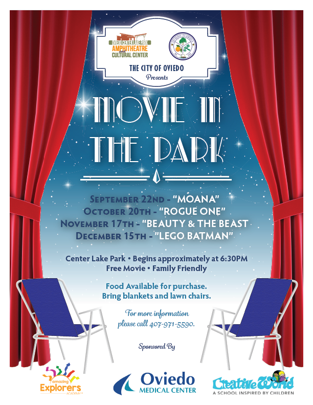 City of Oviedo Movie In the Park Poster