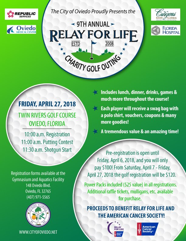City of Oviedo Relay for Life Poster