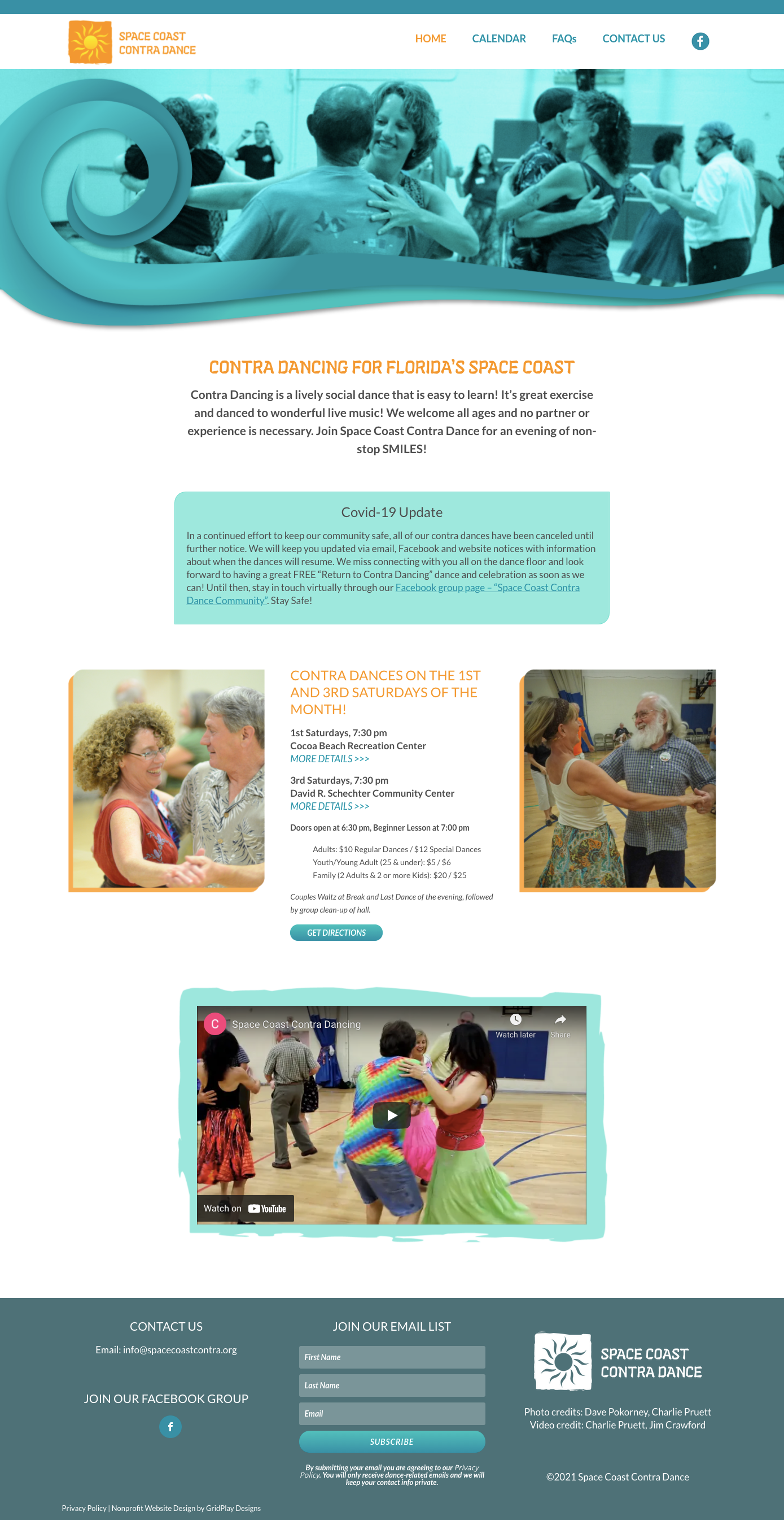 Space Coast Contra Dance Homepage