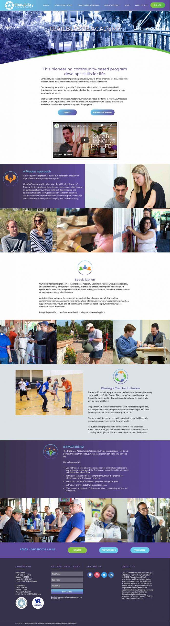 STARability Foundation Trailblazer Page